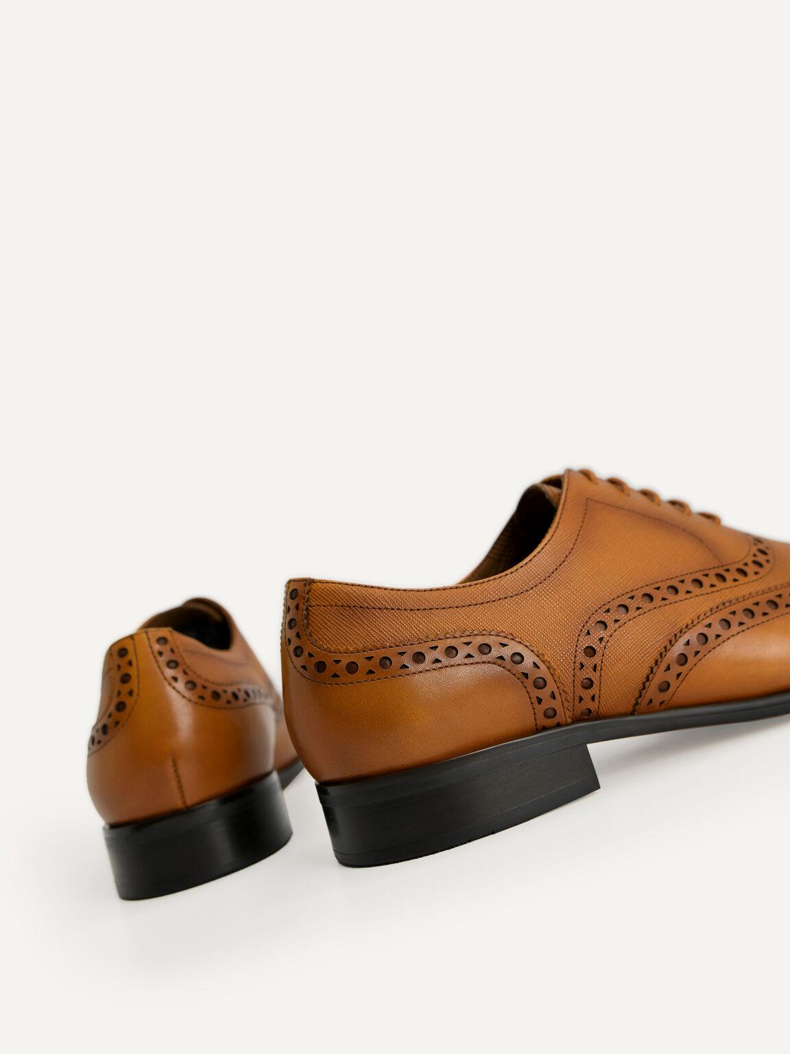 Textured Brogue Oxford Shoes, Camel, hi-res