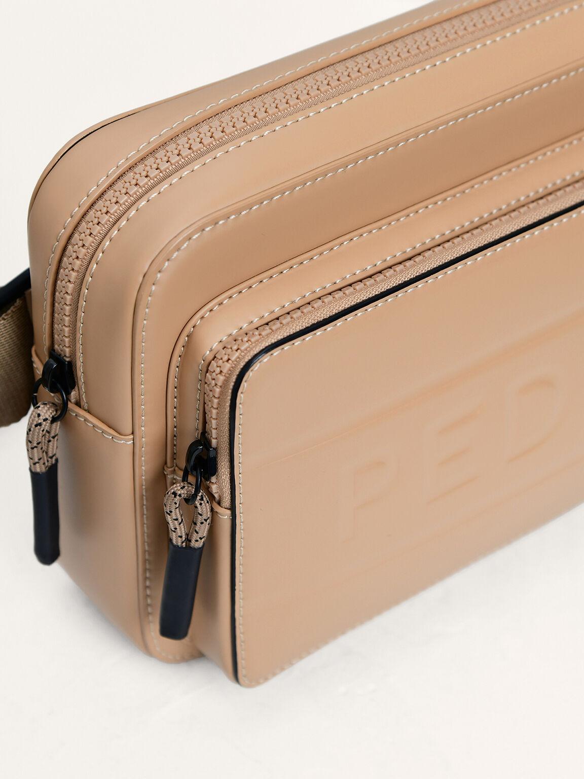 Casual Sling Bag, Taupe, hi-res