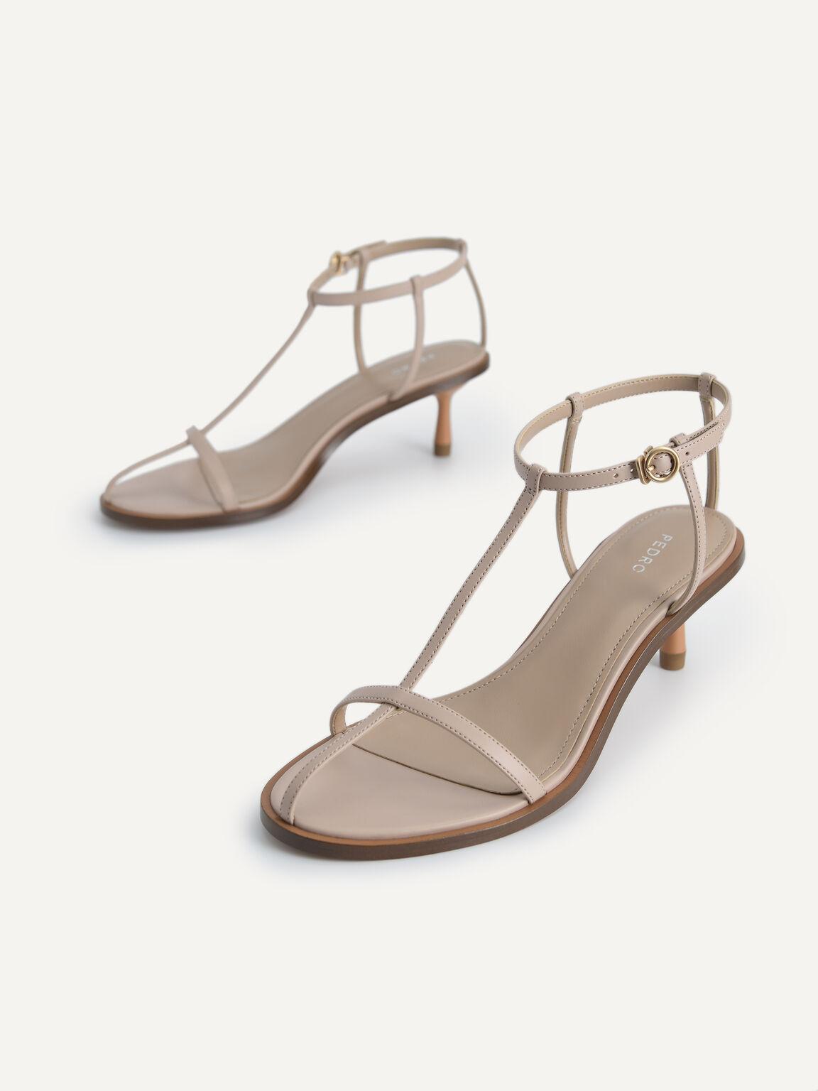 腳踝綁帶高跟涼鞋, 裸色, hi-res