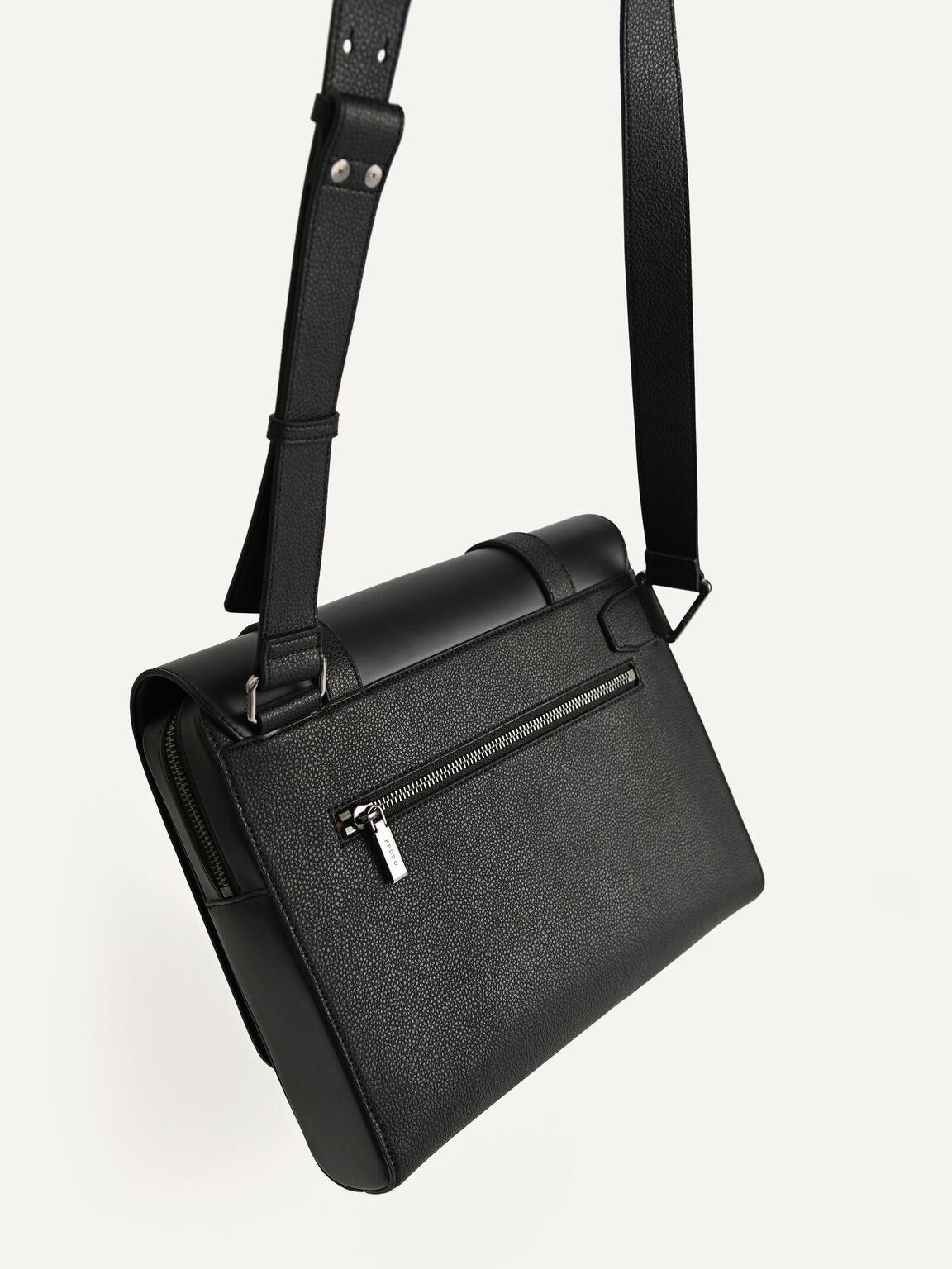 Casual Messenger Bag, Black, hi-res