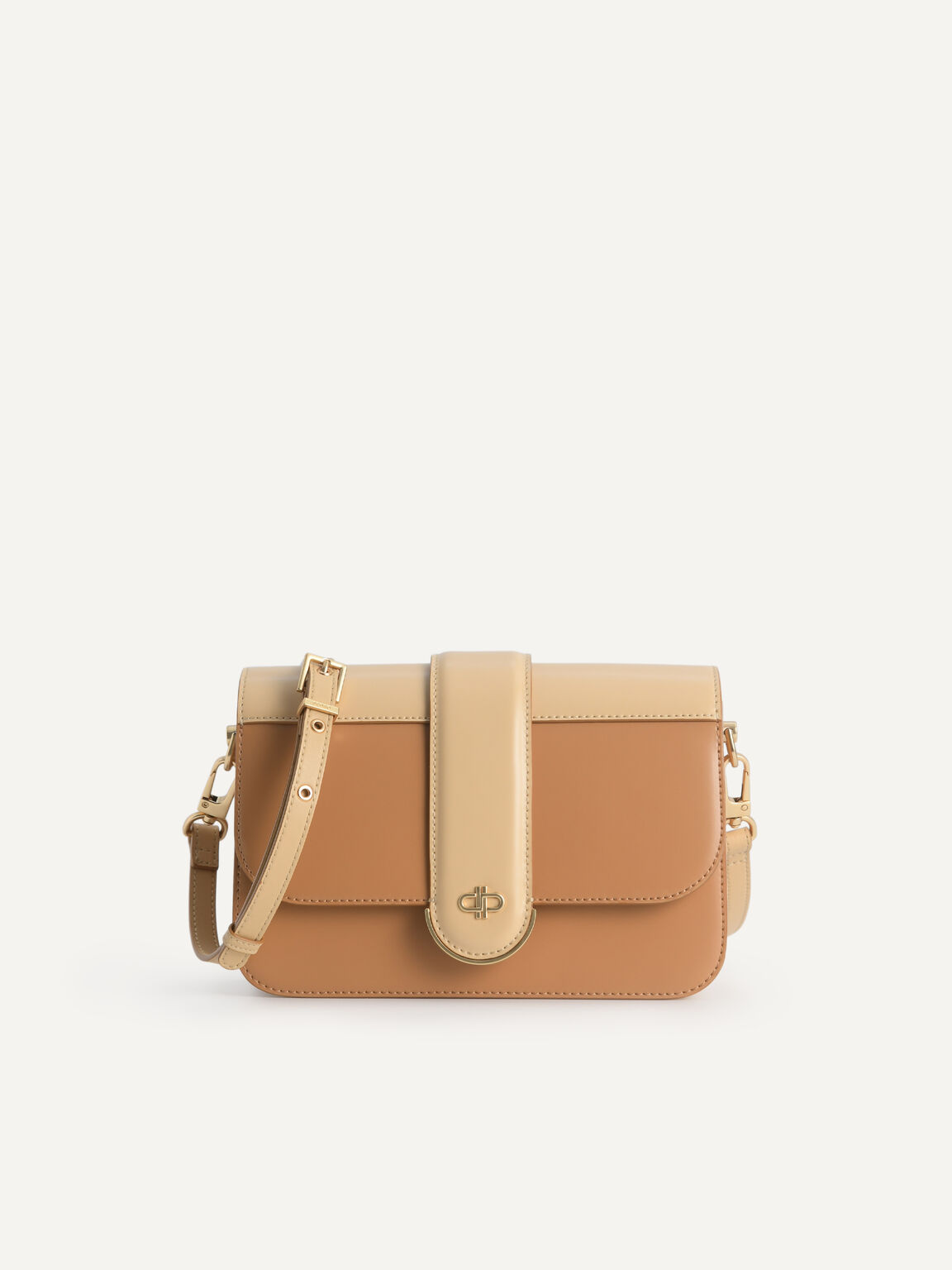 Icon Leather Shoulder Bag, Camel, hi-res
