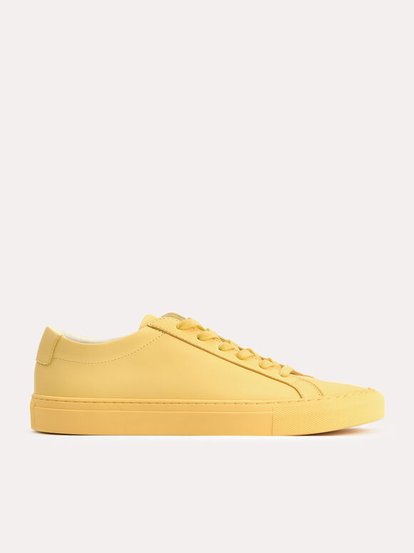 Atlas Court Sneakers, Light Yellow, hi-res