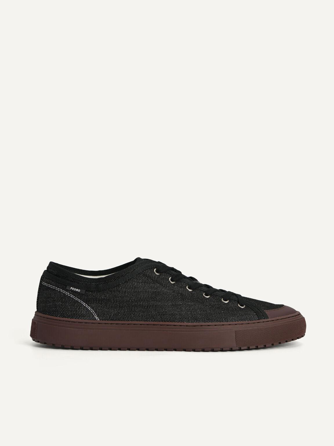 牛仔布Atlas運動鞋, 黑色, hi-res