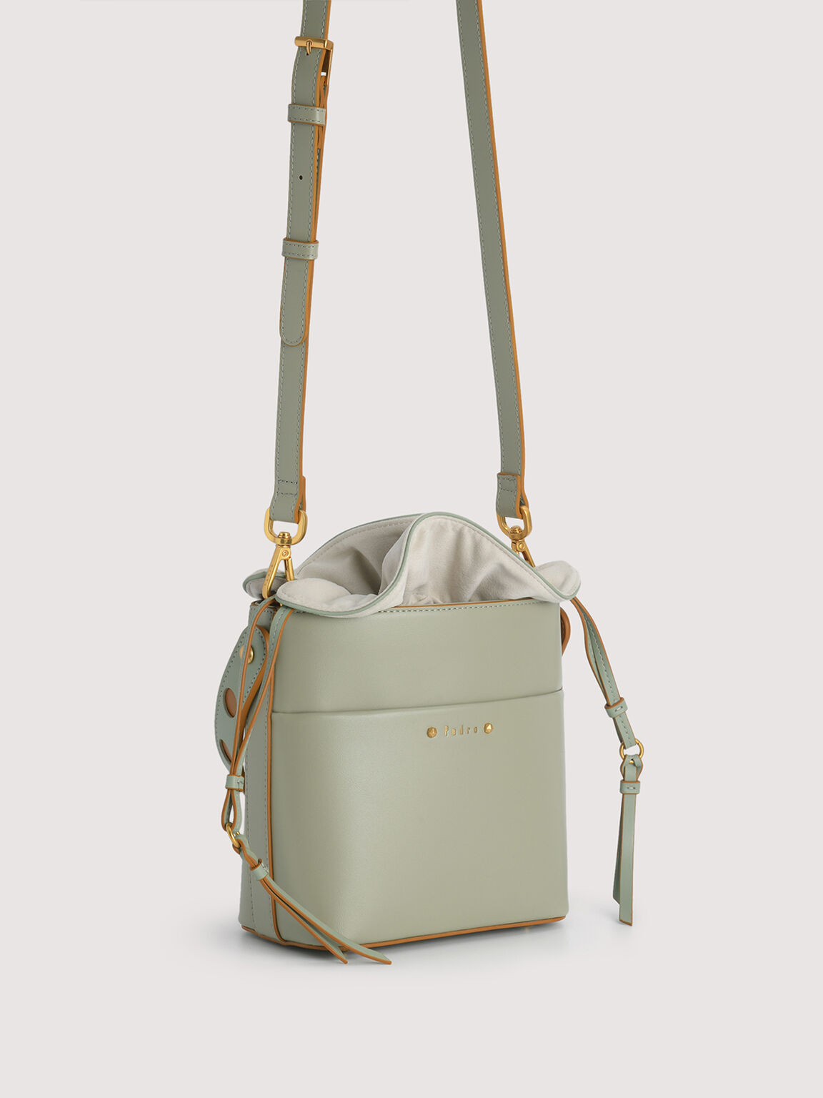 Drawstring Bucket Bag, Olive, hi-res