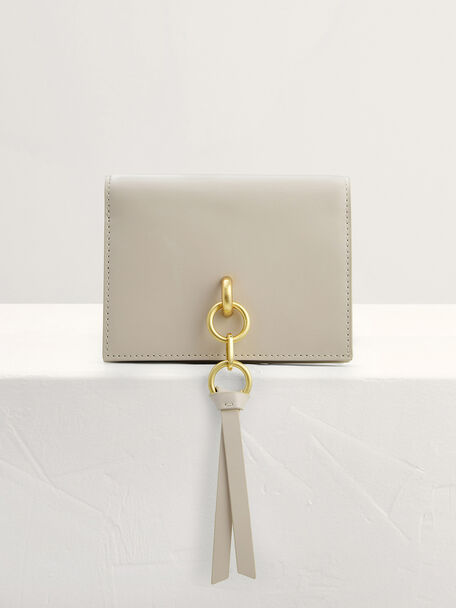 Two-Way Leather Wallet on Chain, Chalk, hi-res
