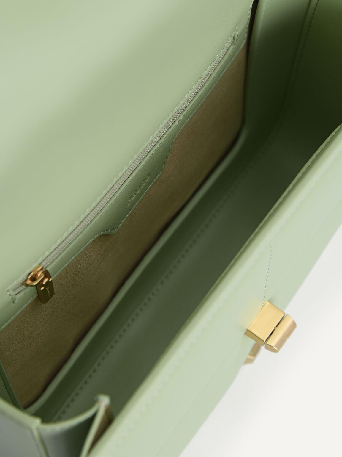 Quilted Shoulder Bag, Light Green, hi-res