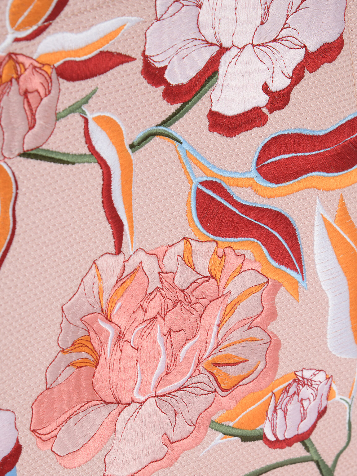 Large Floral Bouquet Tote, Multi, hi-res