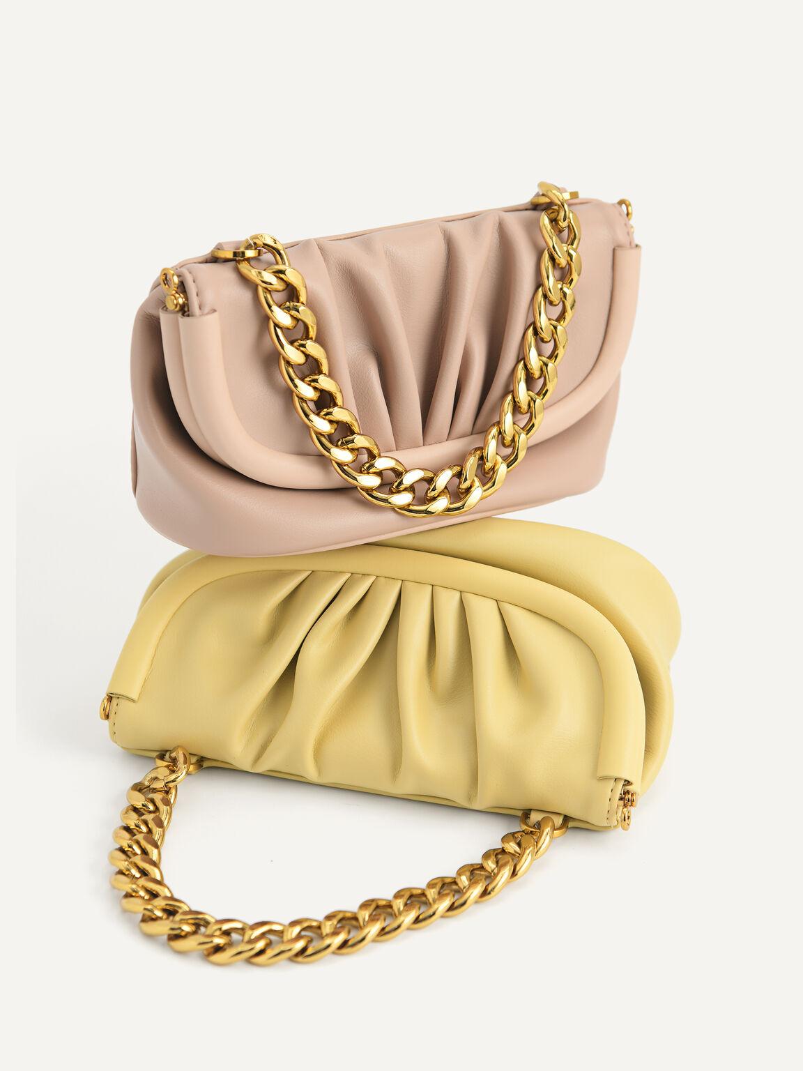Mini Draped Shoulder Bag, Nude, hi-res