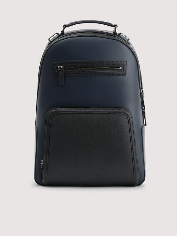 Embossed Backpack, Navy, hi-res