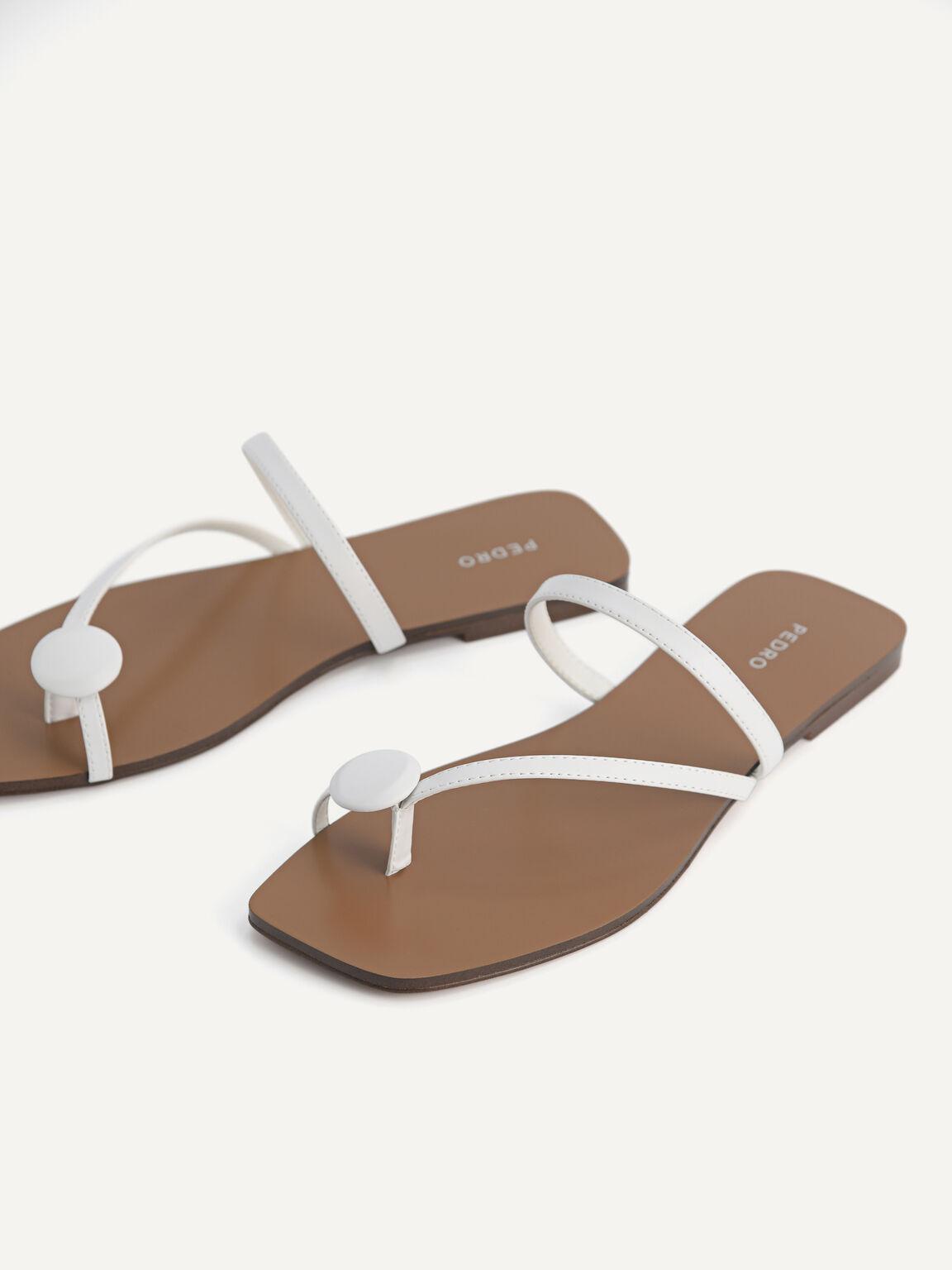 Toe Loop Sandals, White, hi-res