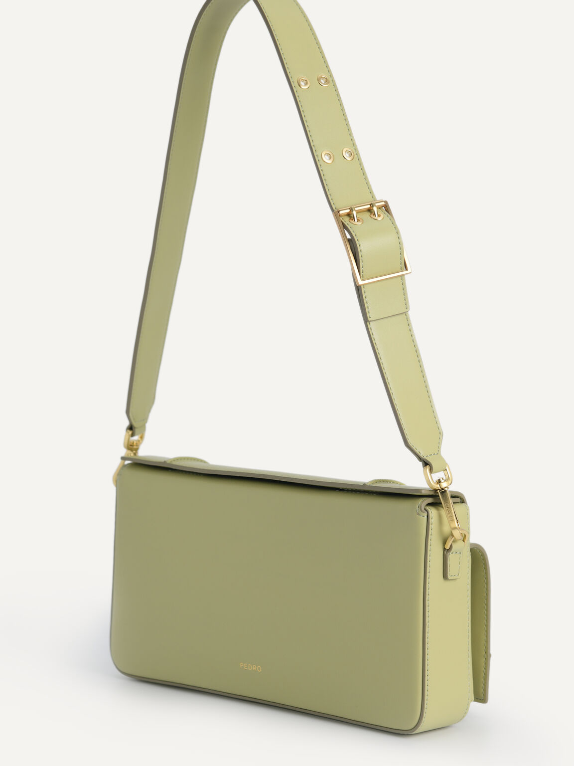 Utility Structured Shoulder Bag, Olive, hi-res