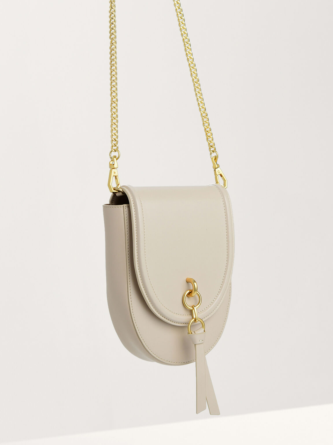 Mini Saddle Leather Pouch Bag, Chalk, hi-res
