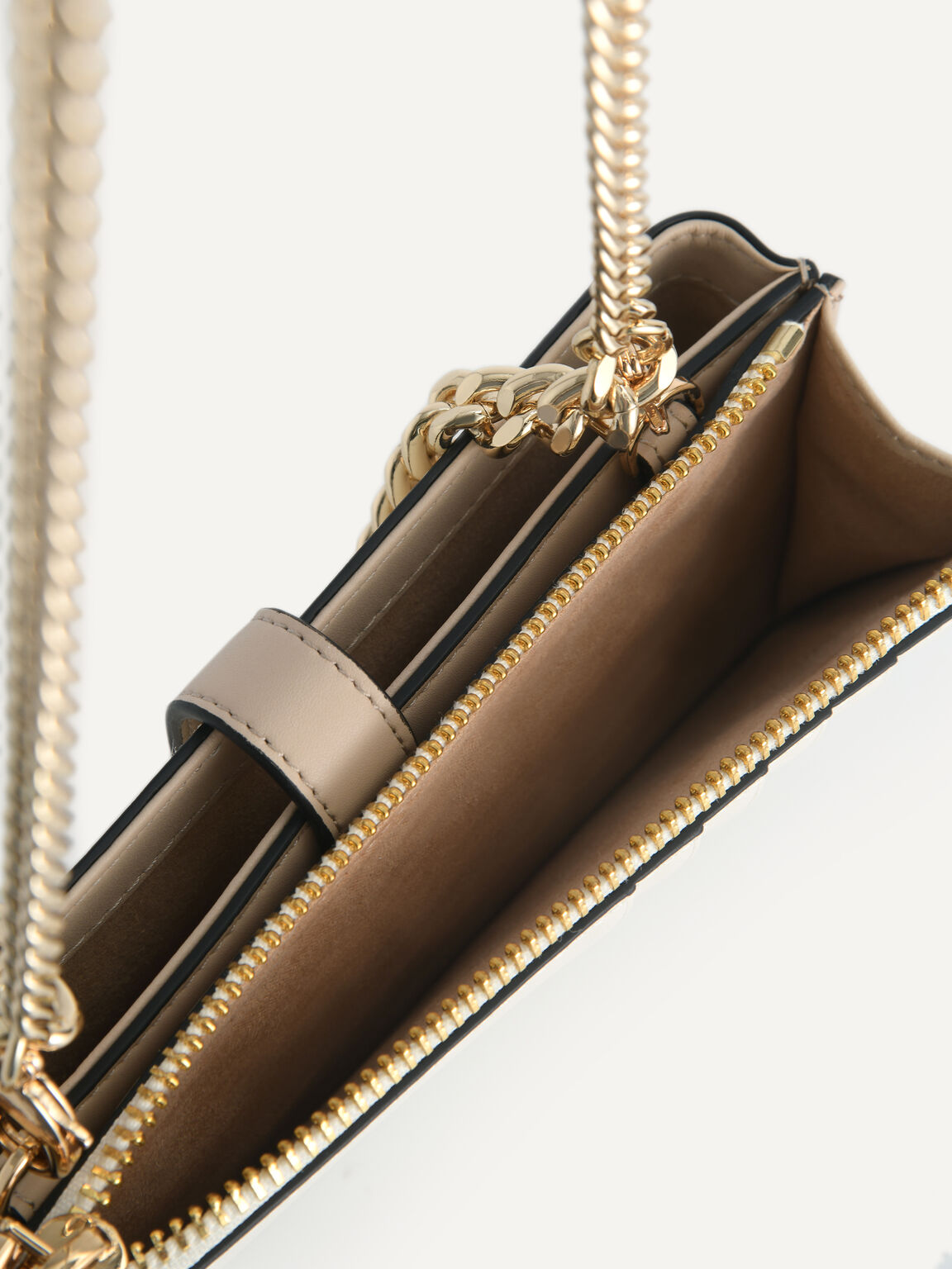 Textured Leather Phone Pouch, Multi, hi-res