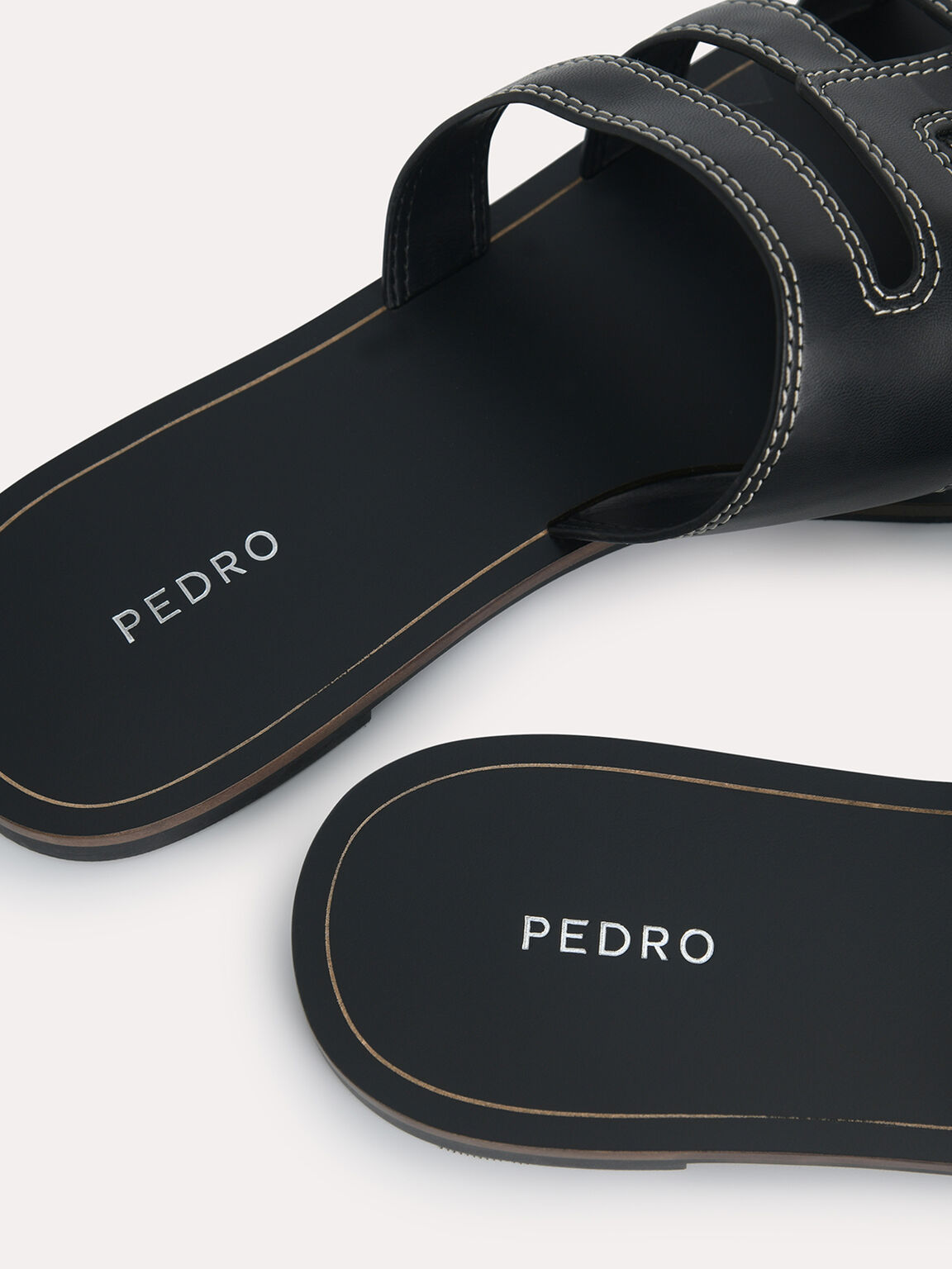 Abstract Casual Sandals, Black, hi-res