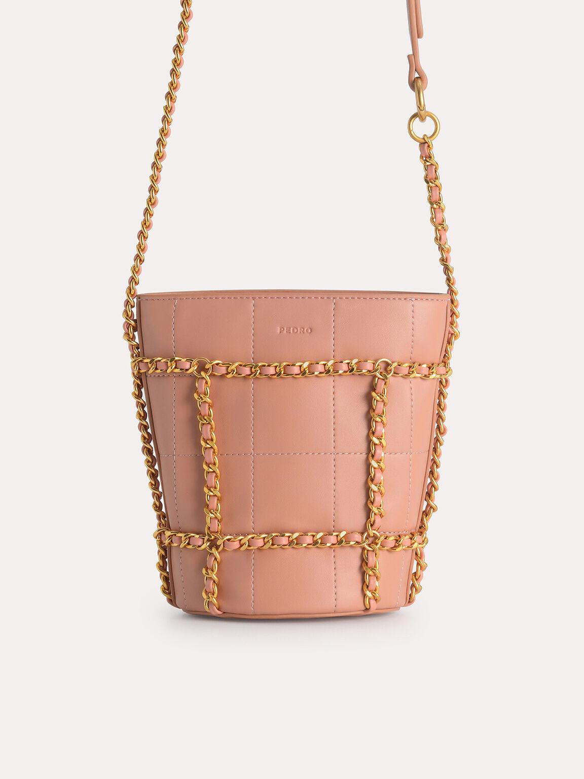 Bucket Shoulder Bag, Nude, hi-res