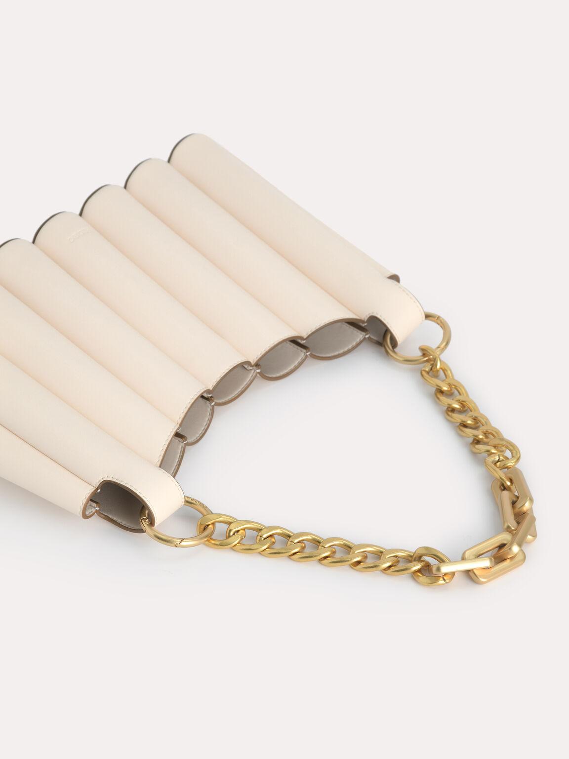 Harp Hobo Bag, Beige, hi-res
