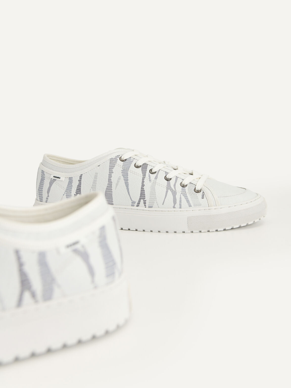 Printed Atlas Sneakers, White, hi-res