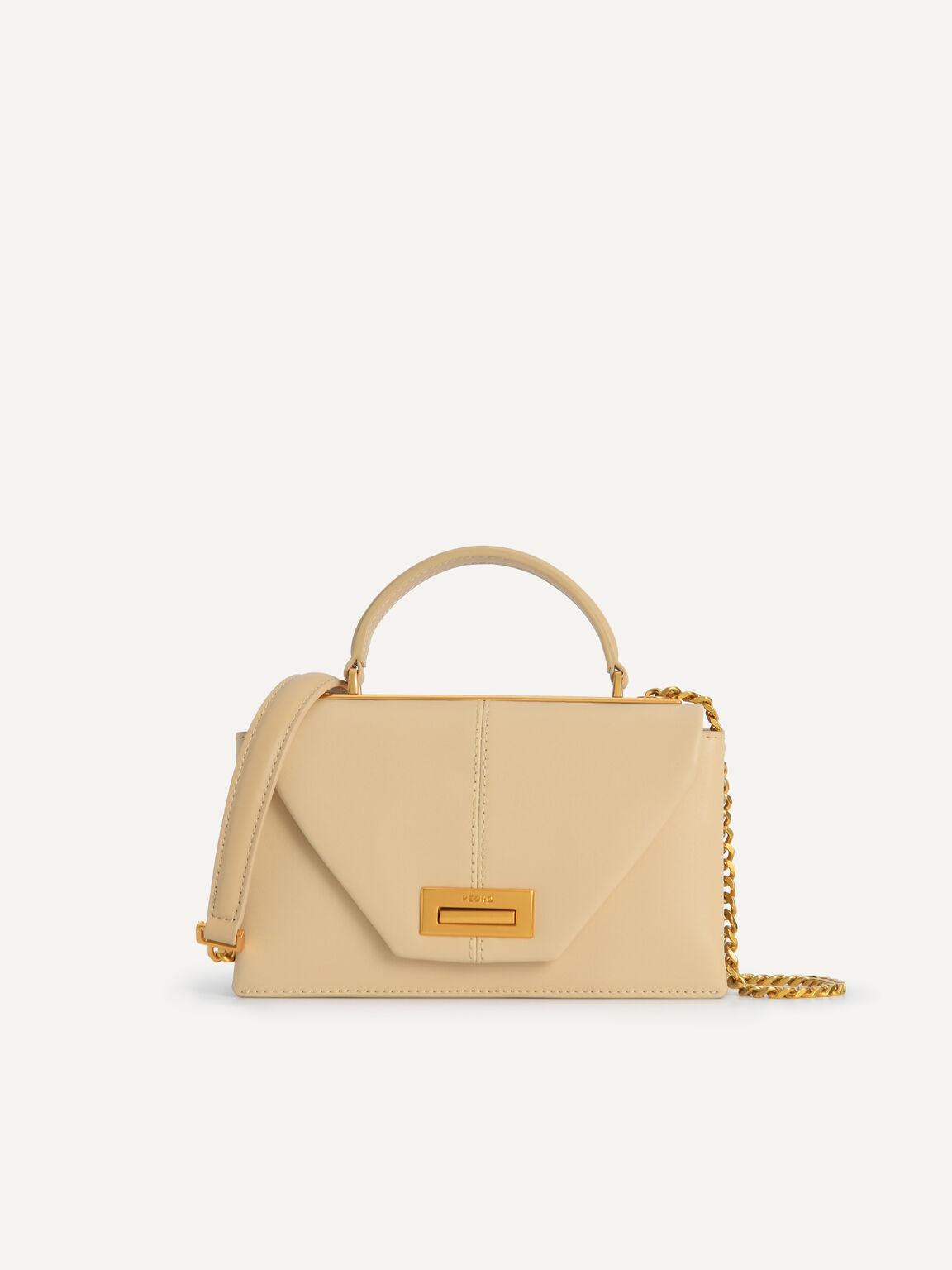 Mini Leather Top Handle Bag, Sand, hi-res