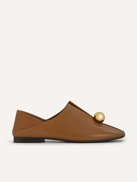 Orb Leather Flats, Camel, hi-res