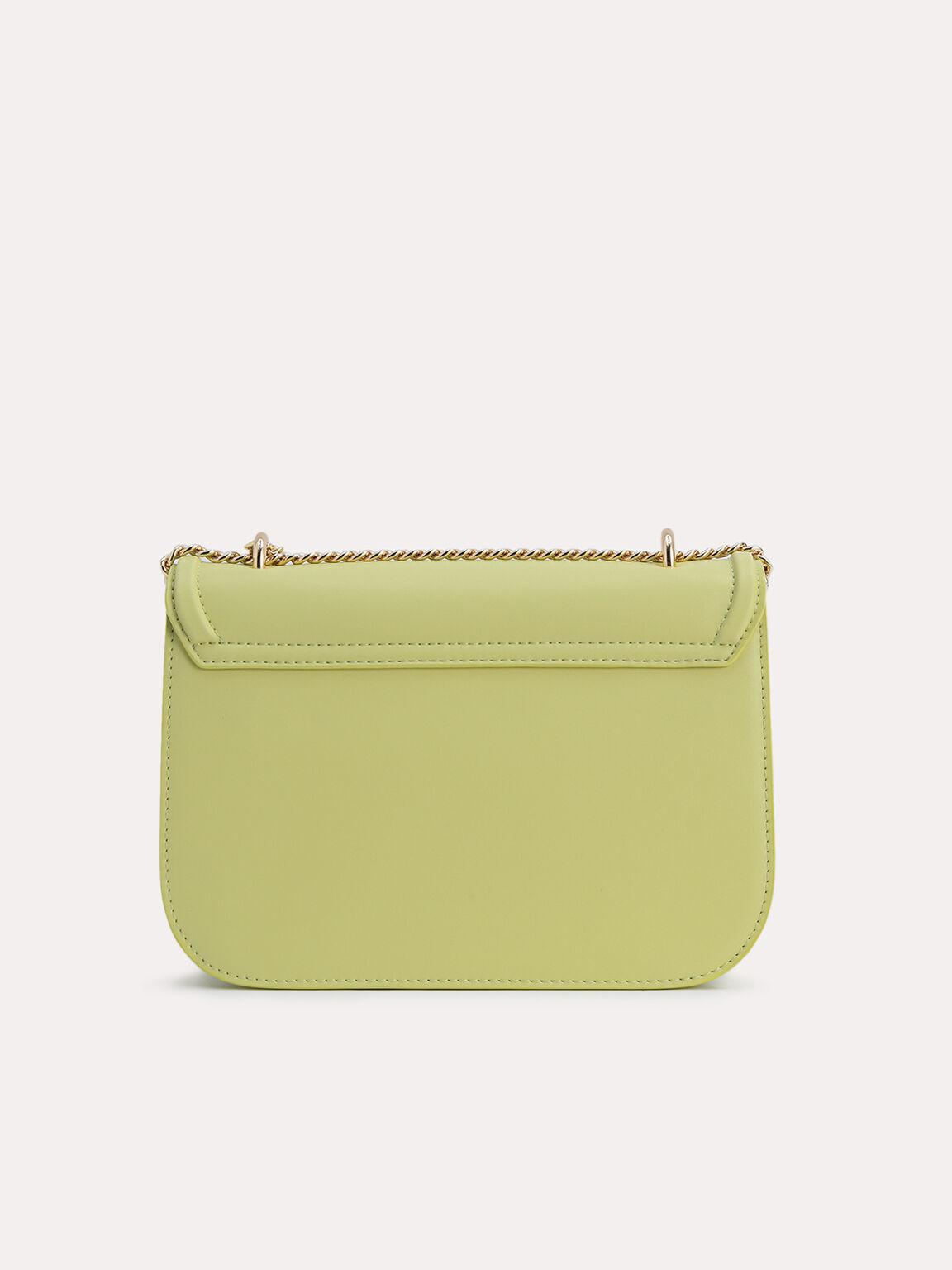 Leather Shoulder Bag, Light Green, hi-res