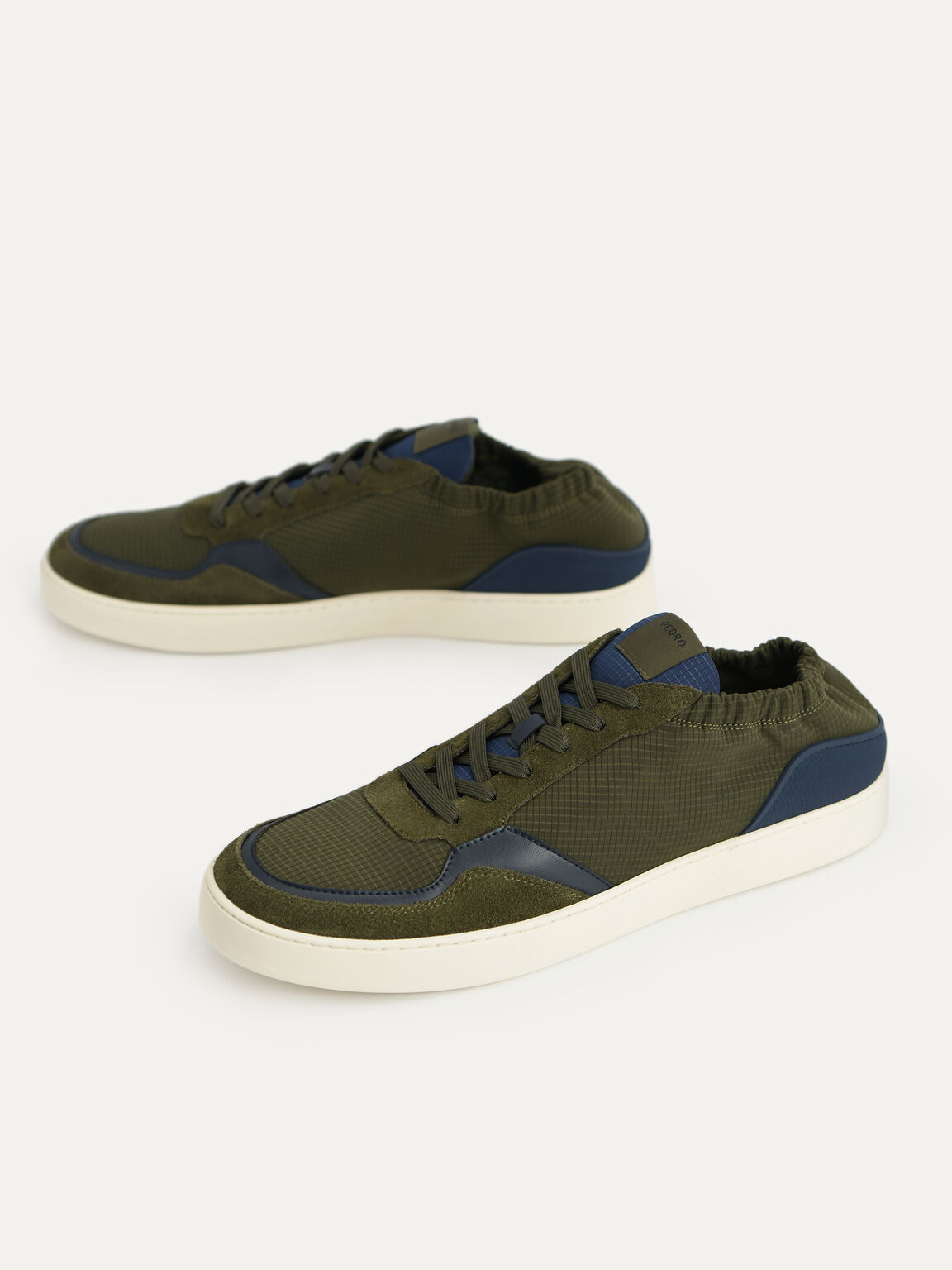 Suede Sneakers, Military Green, hi-res