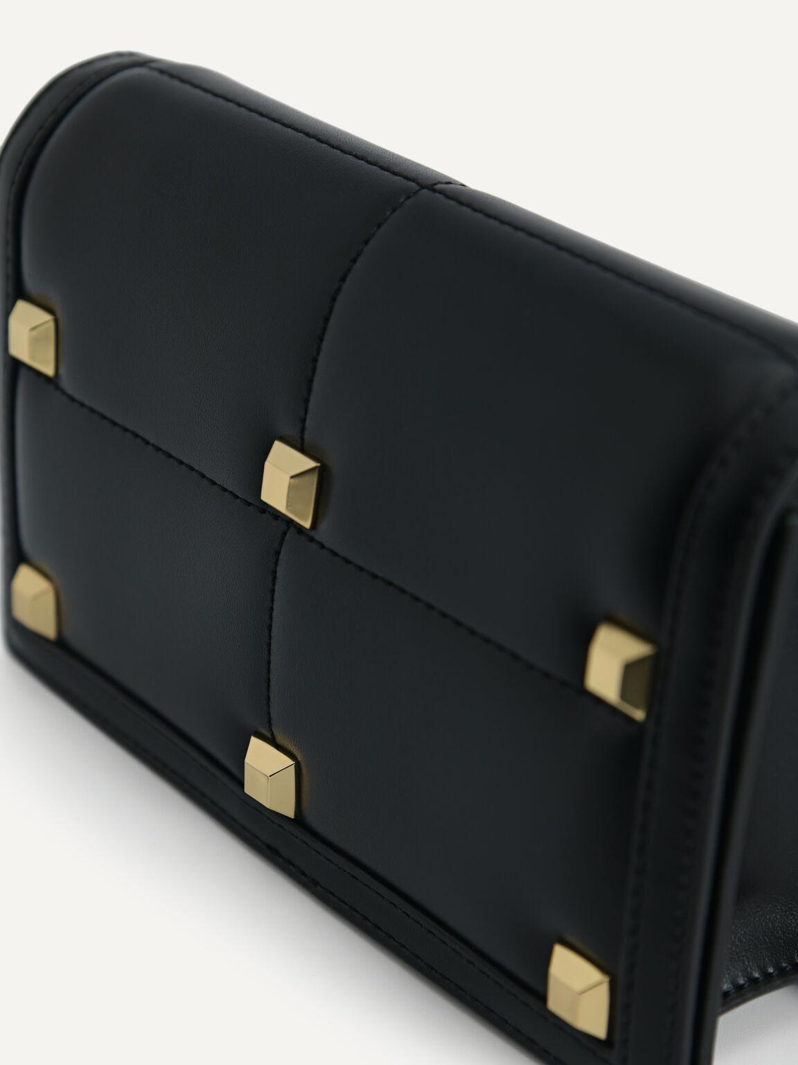 Mini Quilted Shoulder Bag, Black, hi-res