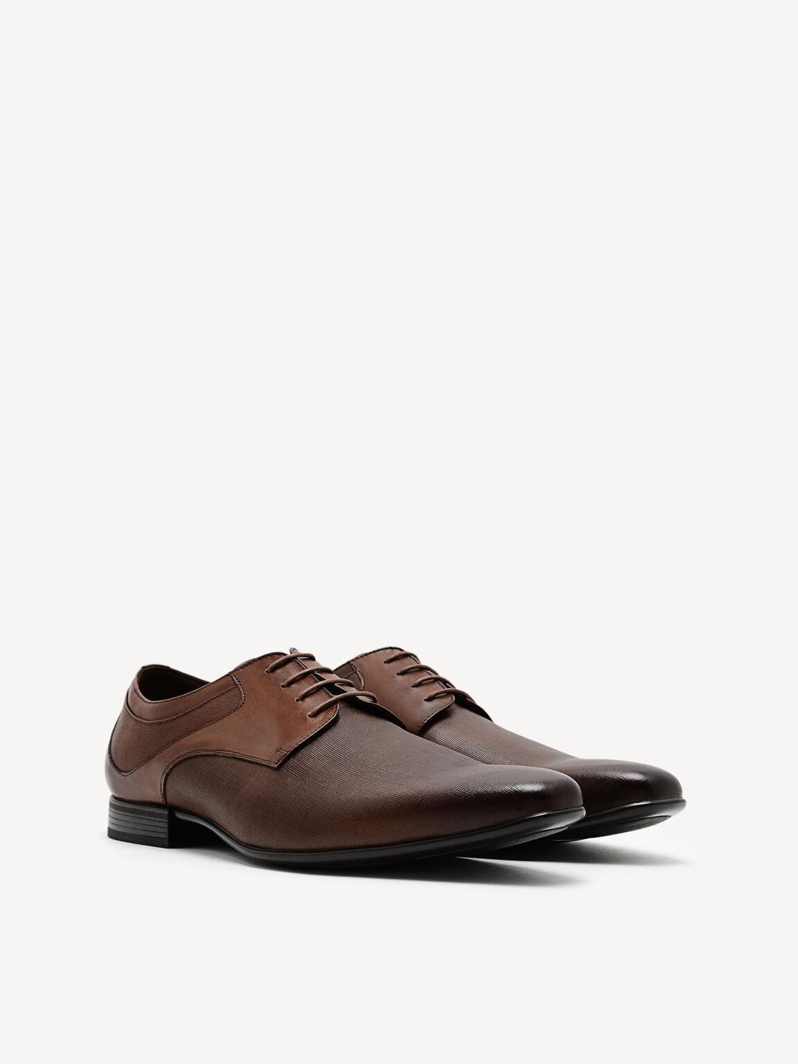 Burnished Leather Derby Shoes, Light Brown, hi-res