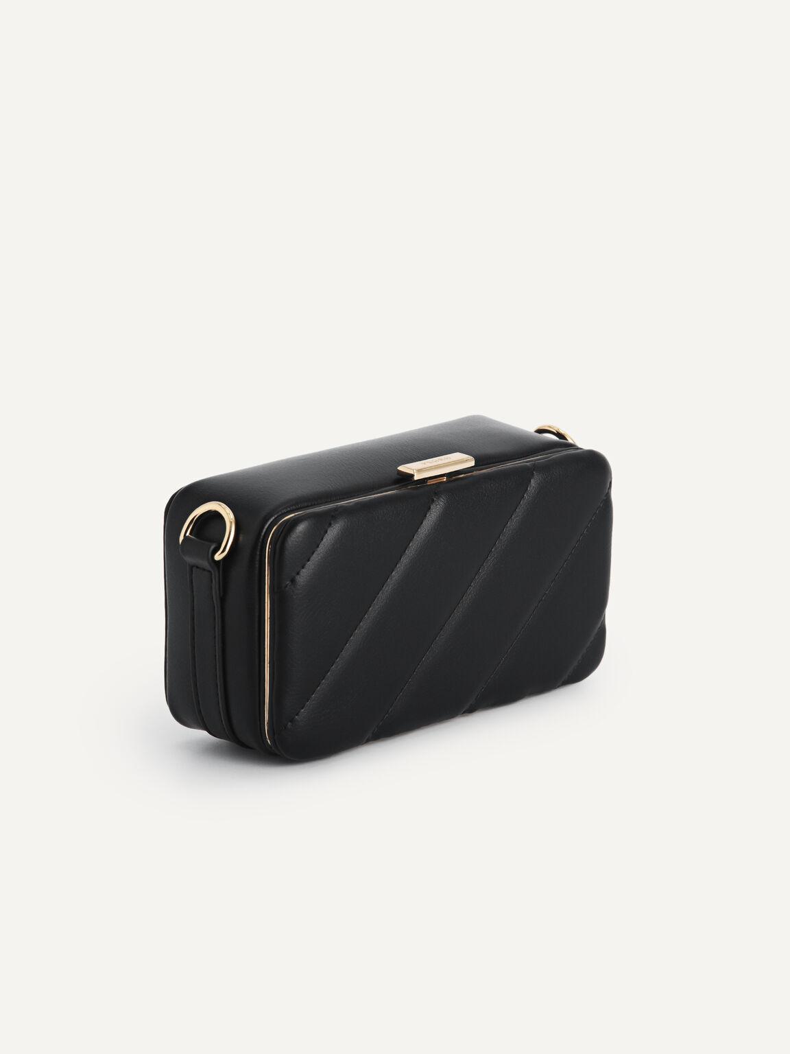 Quilted Boxy Shoulder Bag, Black, hi-res