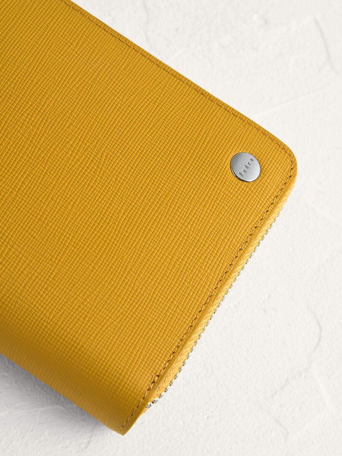 Long Leather Wallet, Mustard, hi-res