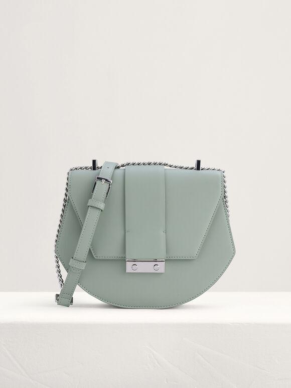 Front Flap Shoulder Bag, Mint, hi-res