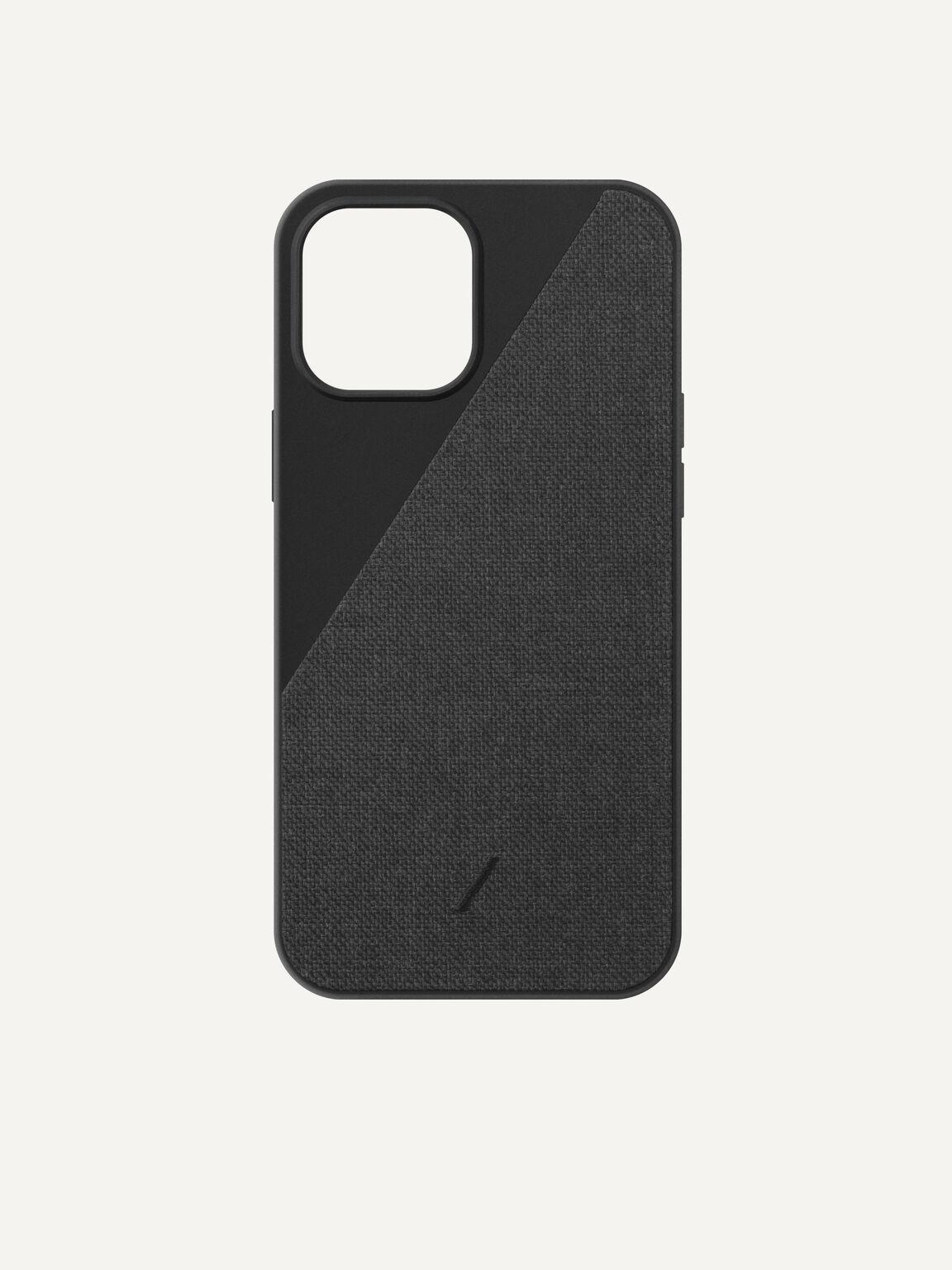 Canvas Fabric iPhone 12 Max Pro Case, Black, hi-res