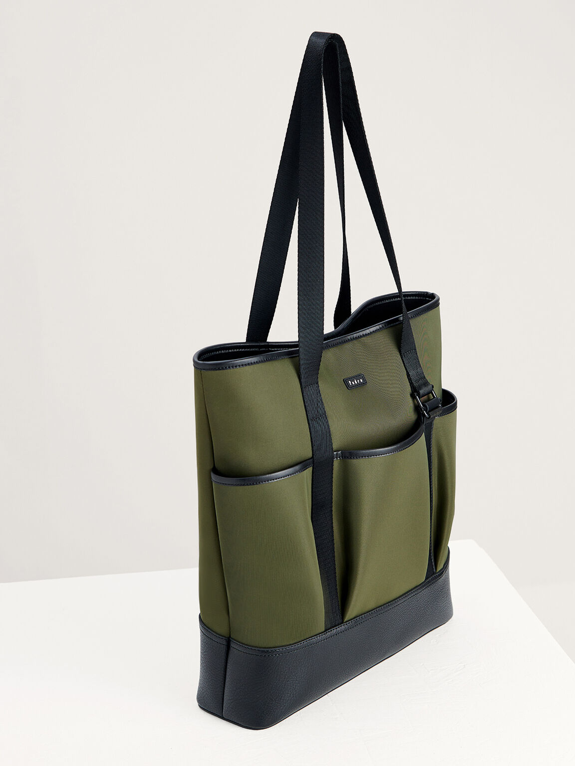 Nylon Tote Bag, Military Green, hi-res