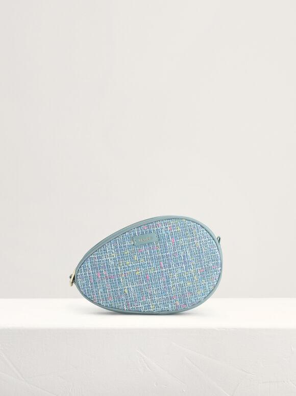 Tweed Shoulder Bag, Blue, hi-res
