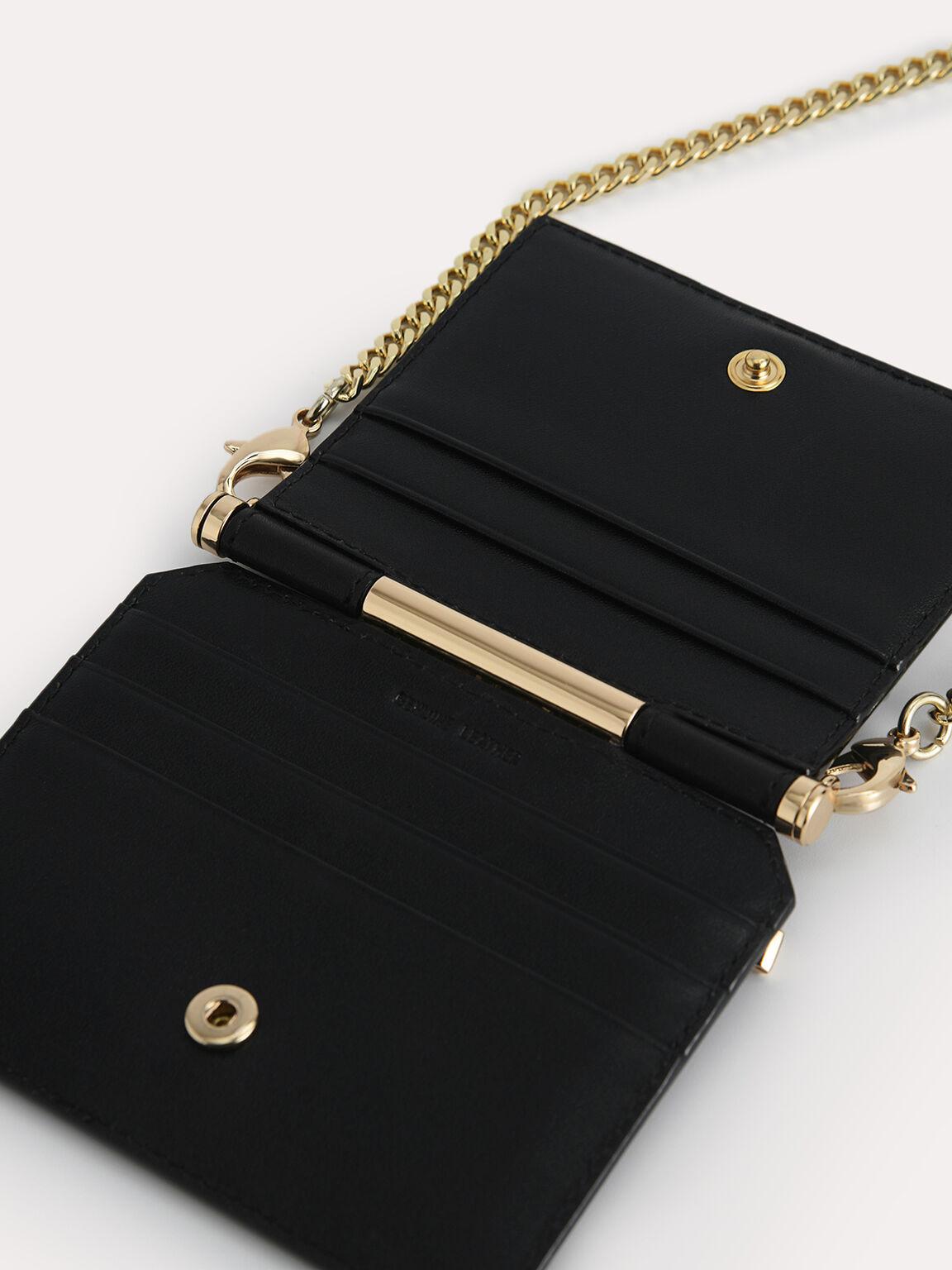 Leather Bi-Fold Cardholder, Black, hi-res