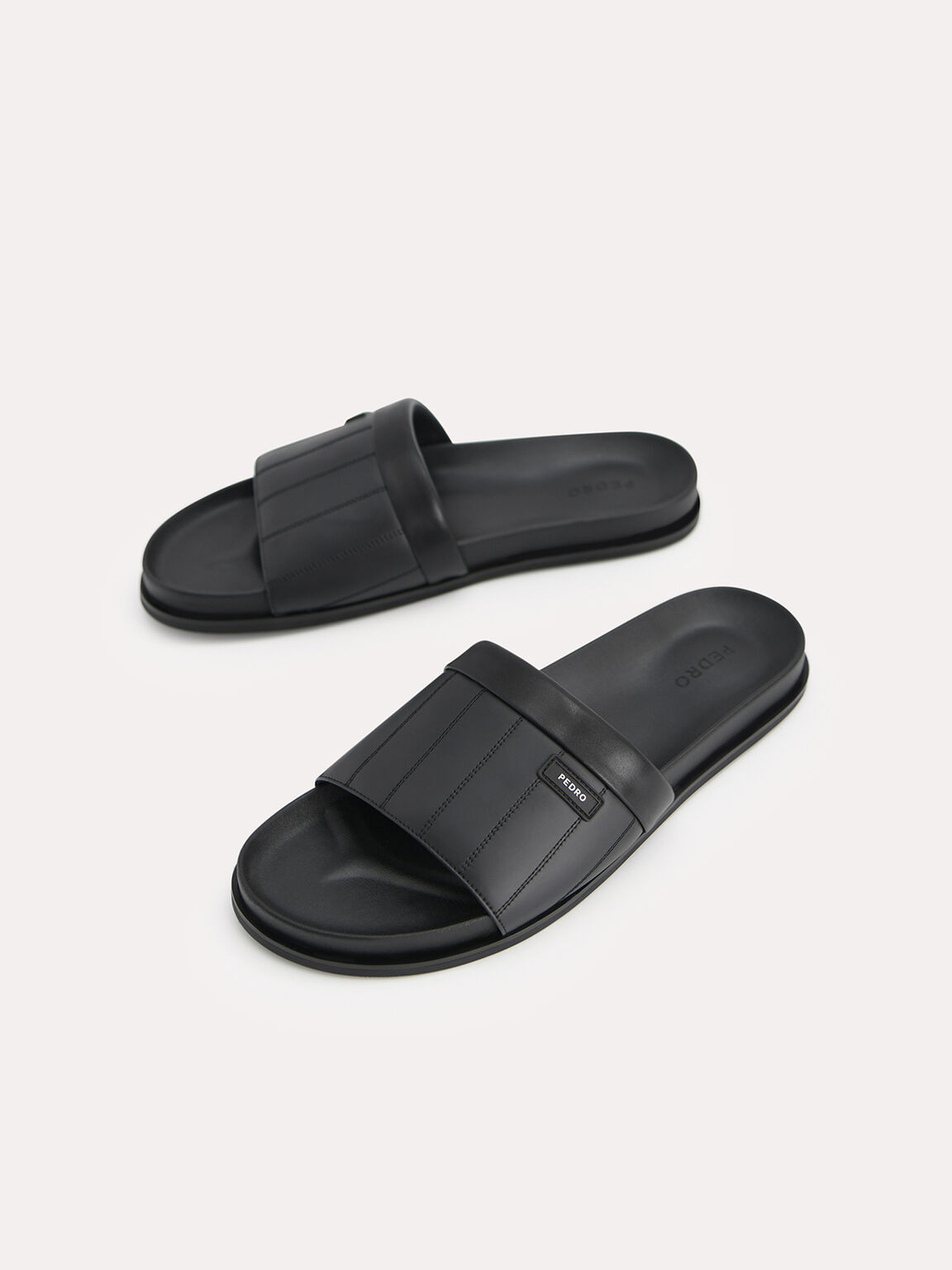 Padded Slides, Black, hi-res