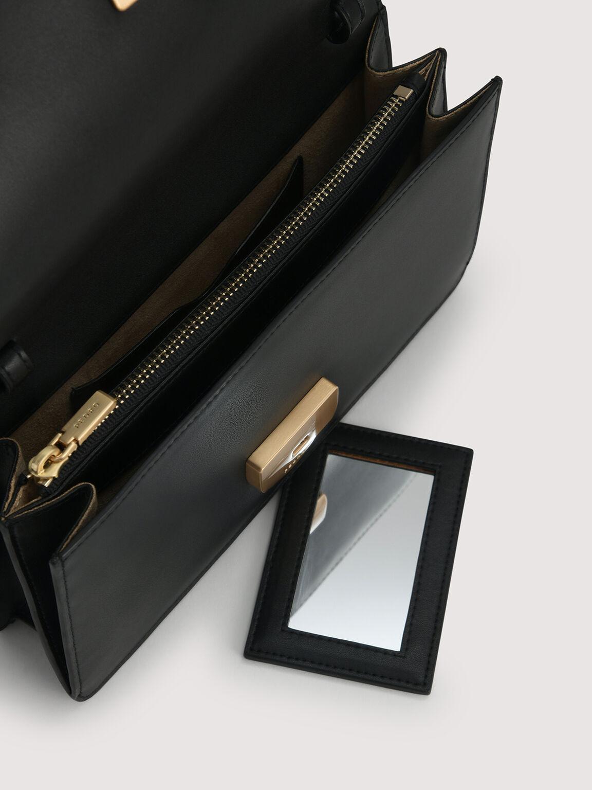 Leather Travel Organizer, Black, hi-res