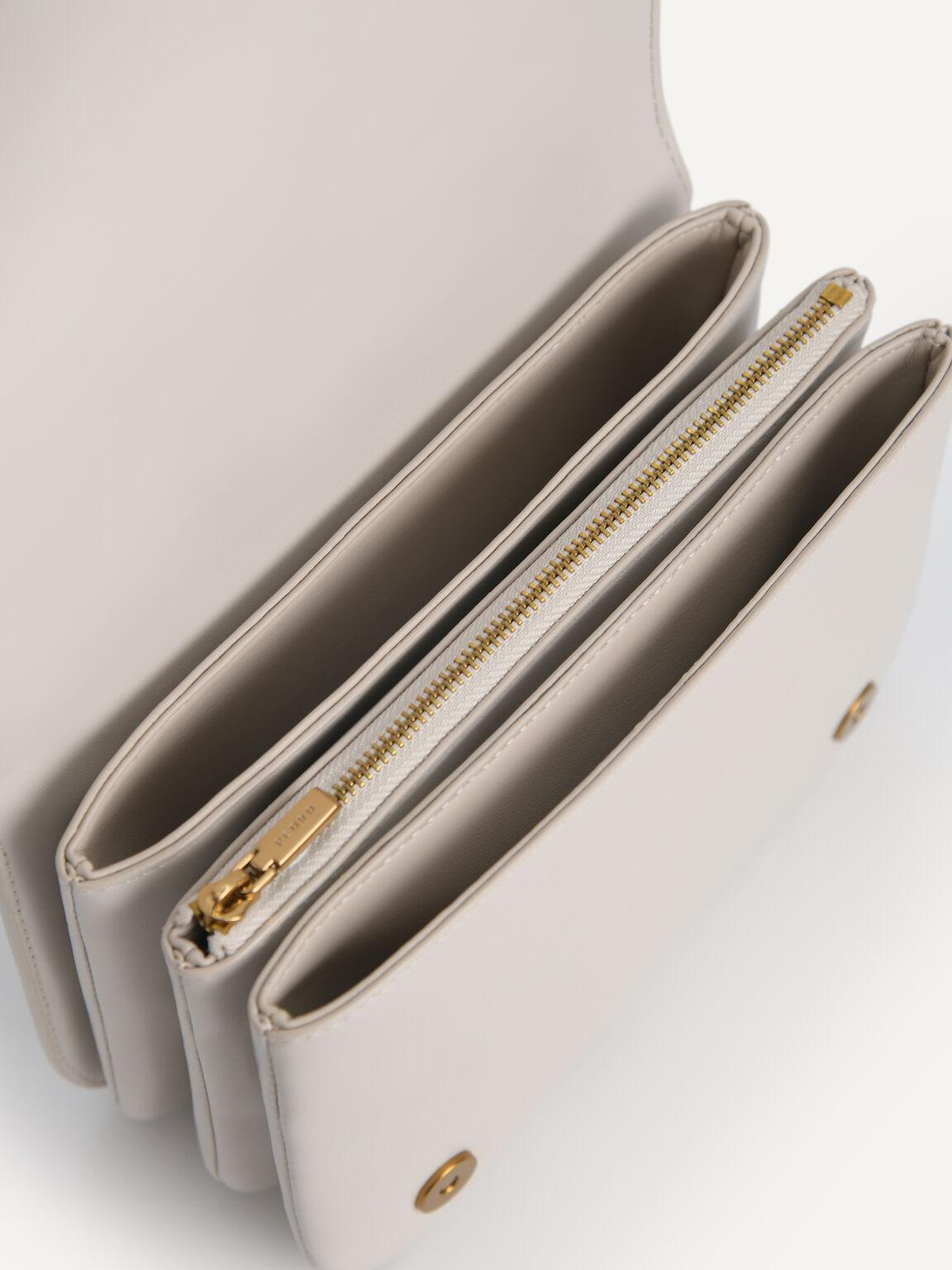 Chain-Strap Shoulder Bag, Chalk, hi-res