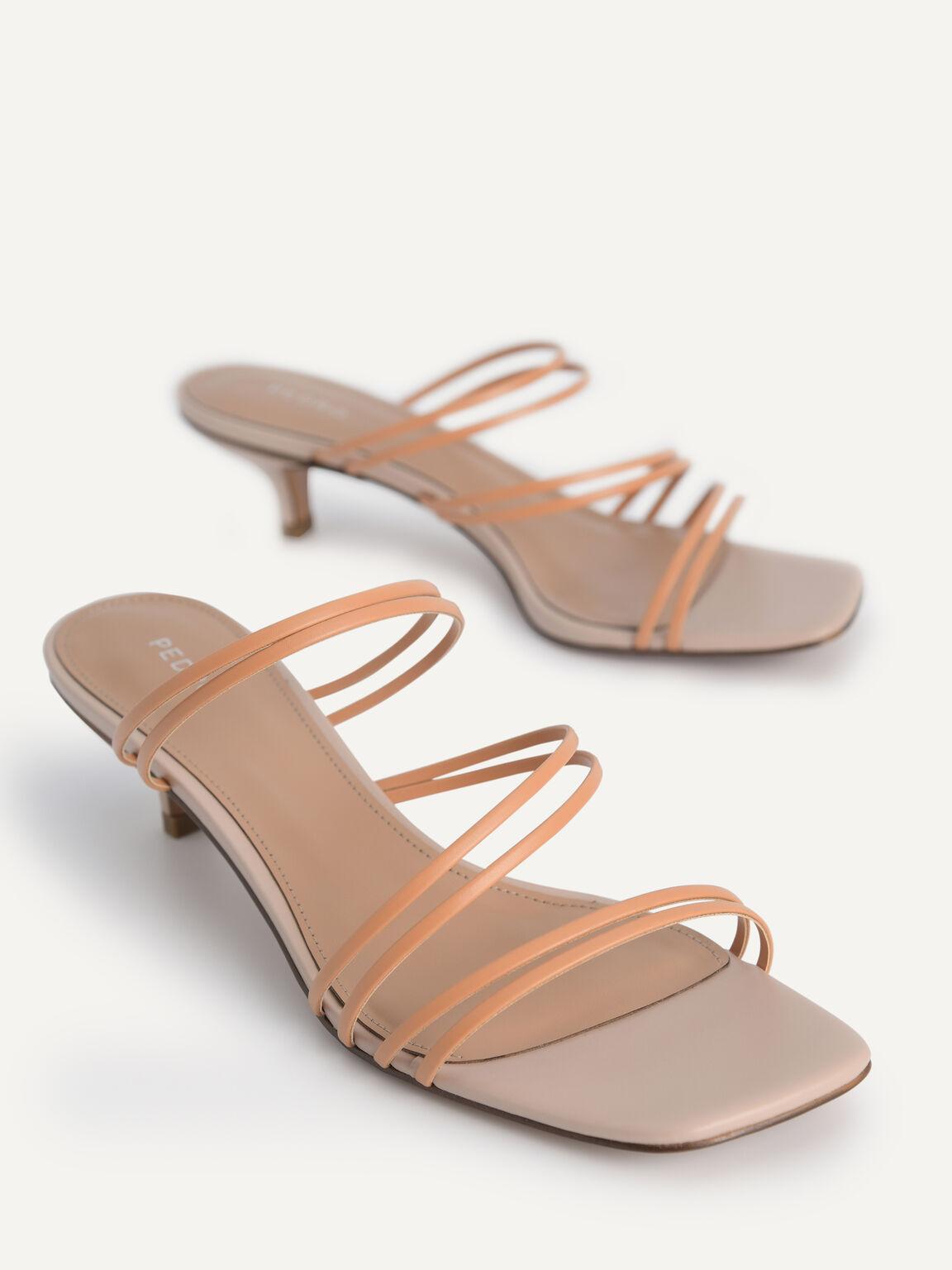 Strappy Heeled Sandals, Camel, hi-res
