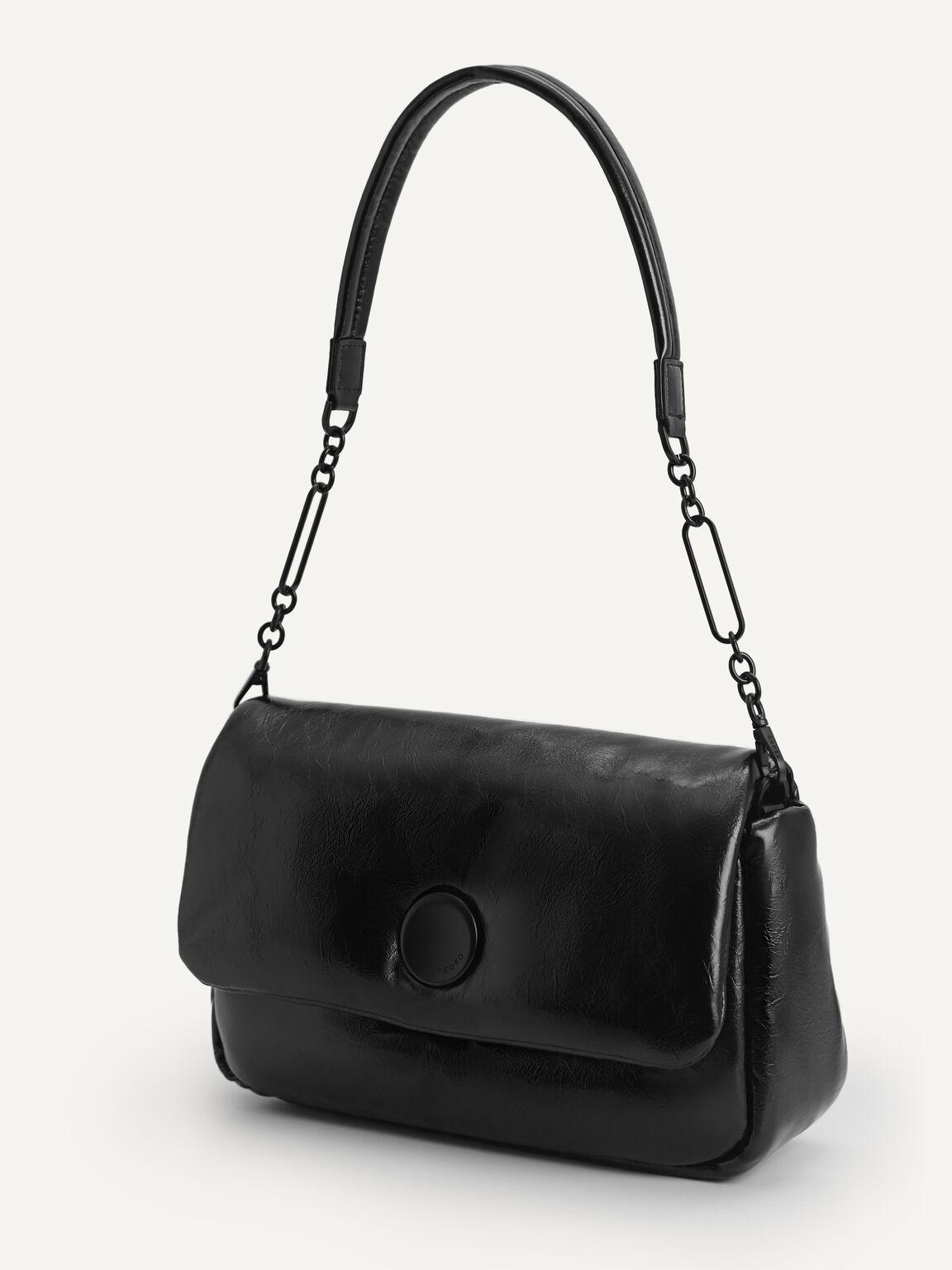 Padded Shoulder Bag, Black, hi-res