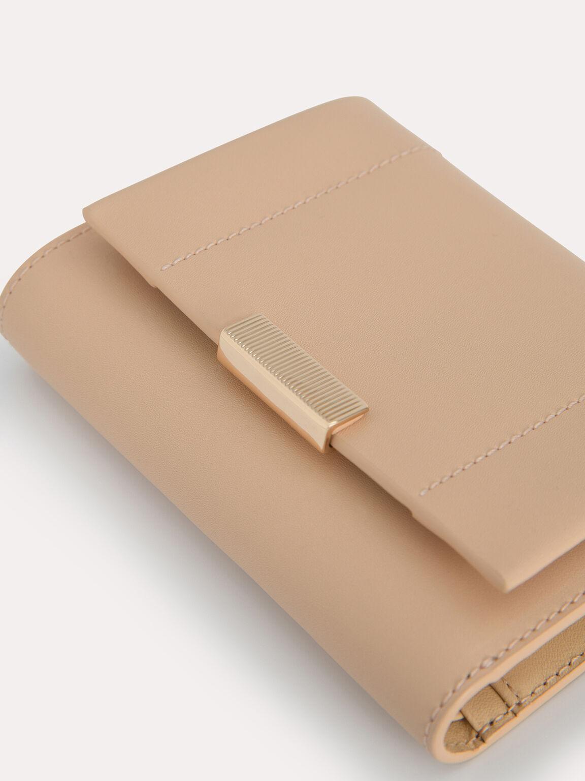 Leather Tri-Fold Wallet, Sand, hi-res