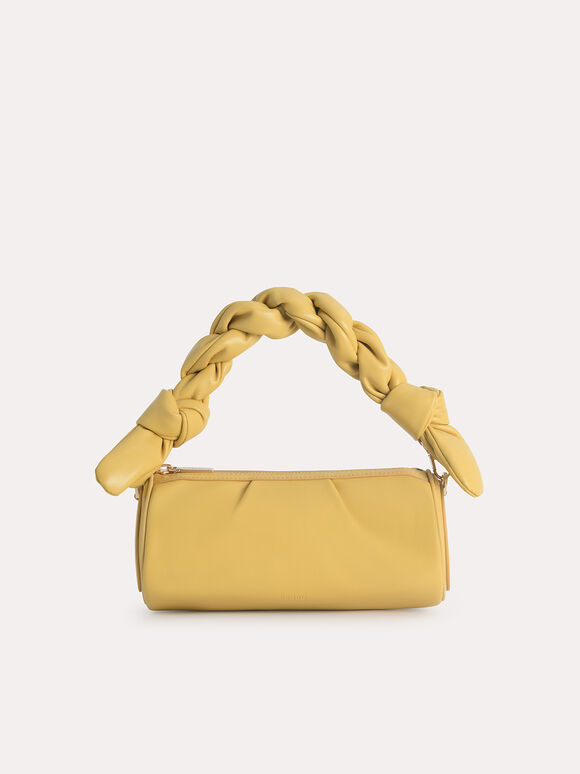 Mini Twisted Rope Shoulder Bag, Yellow, hi-res