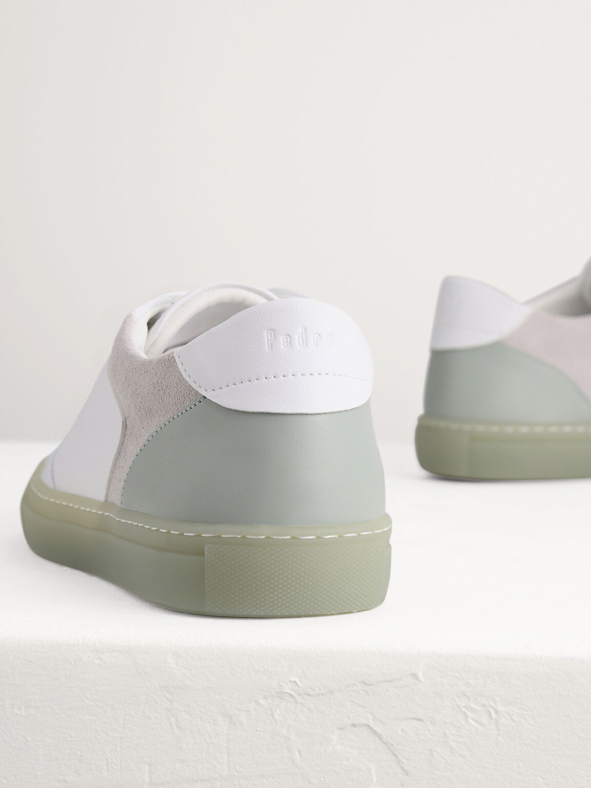 Casual Court Sneakers with Suede Detailing, Mint, hi-res