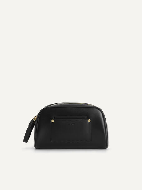 Casual Cosmetic Pouch, Black, hi-res