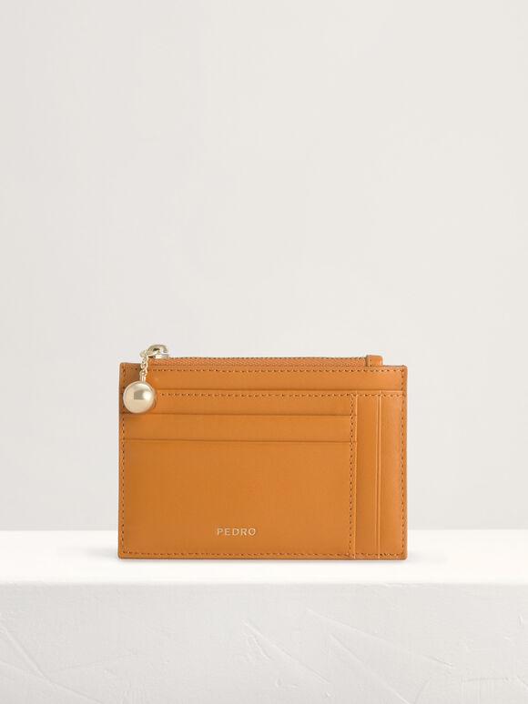 Leather Card Holder, Mustard, hi-res
