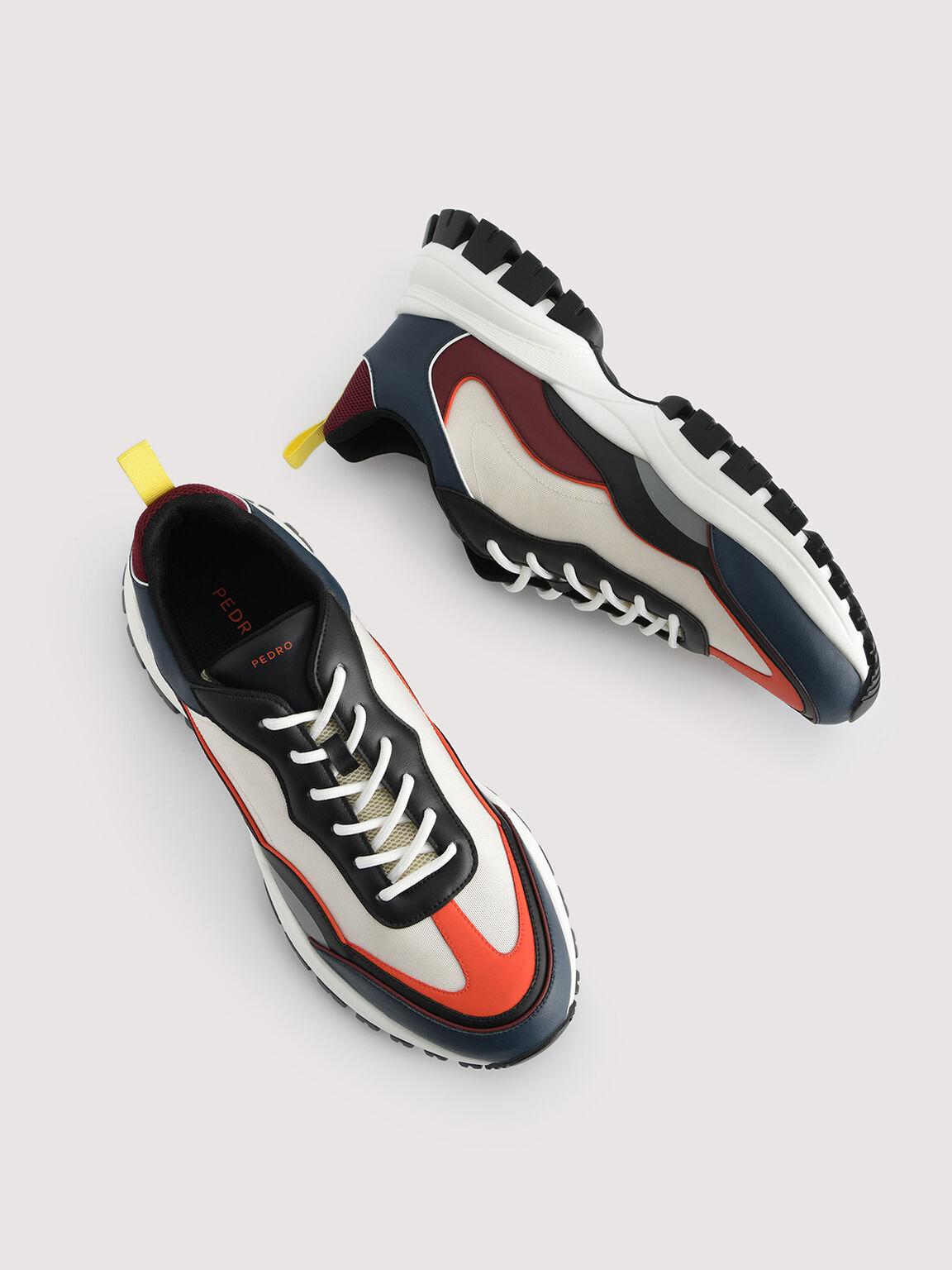 Colourblock Chunky Sneakers, Multi, hi-res