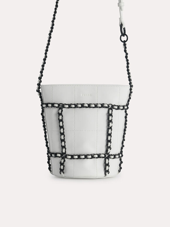 Bucket Shoulder Bag, Chalk, hi-res