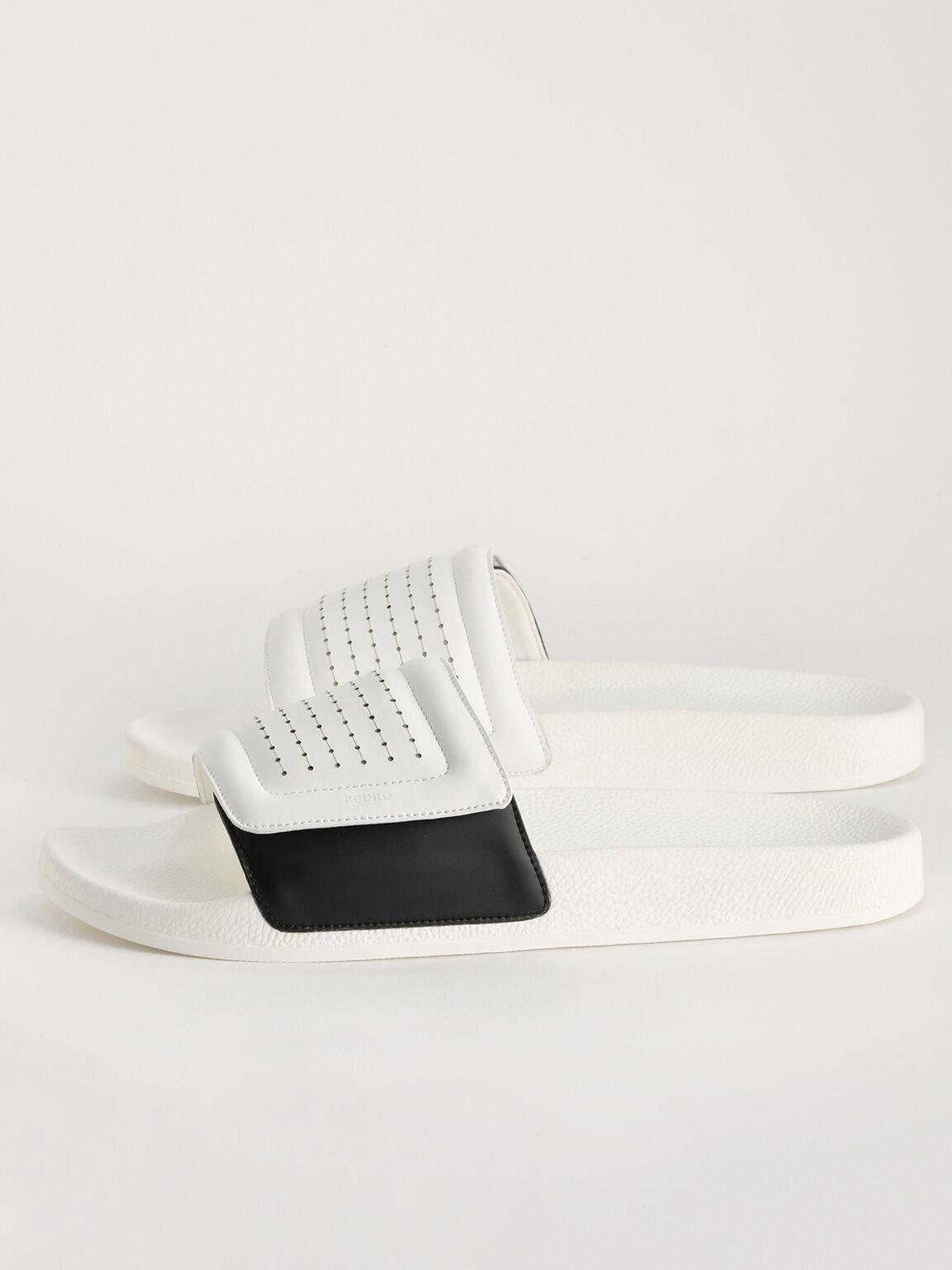 Pinhole Velcro Slides, White, hi-res
