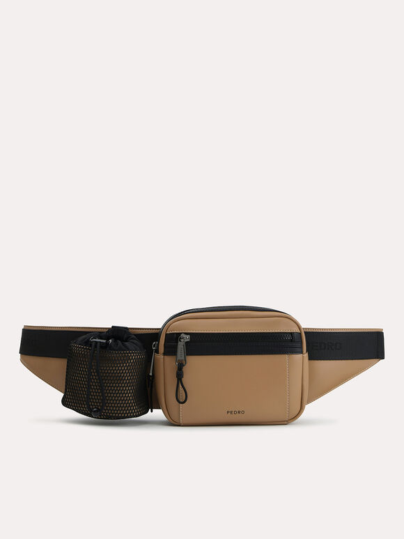 Casual Sling Pouch, Sand, hi-res