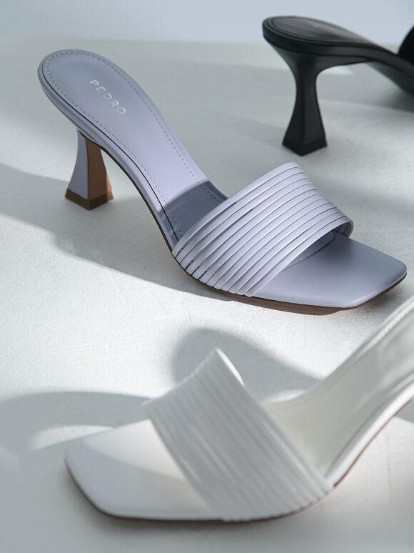 高跟涼鞋, 白色, hi-res