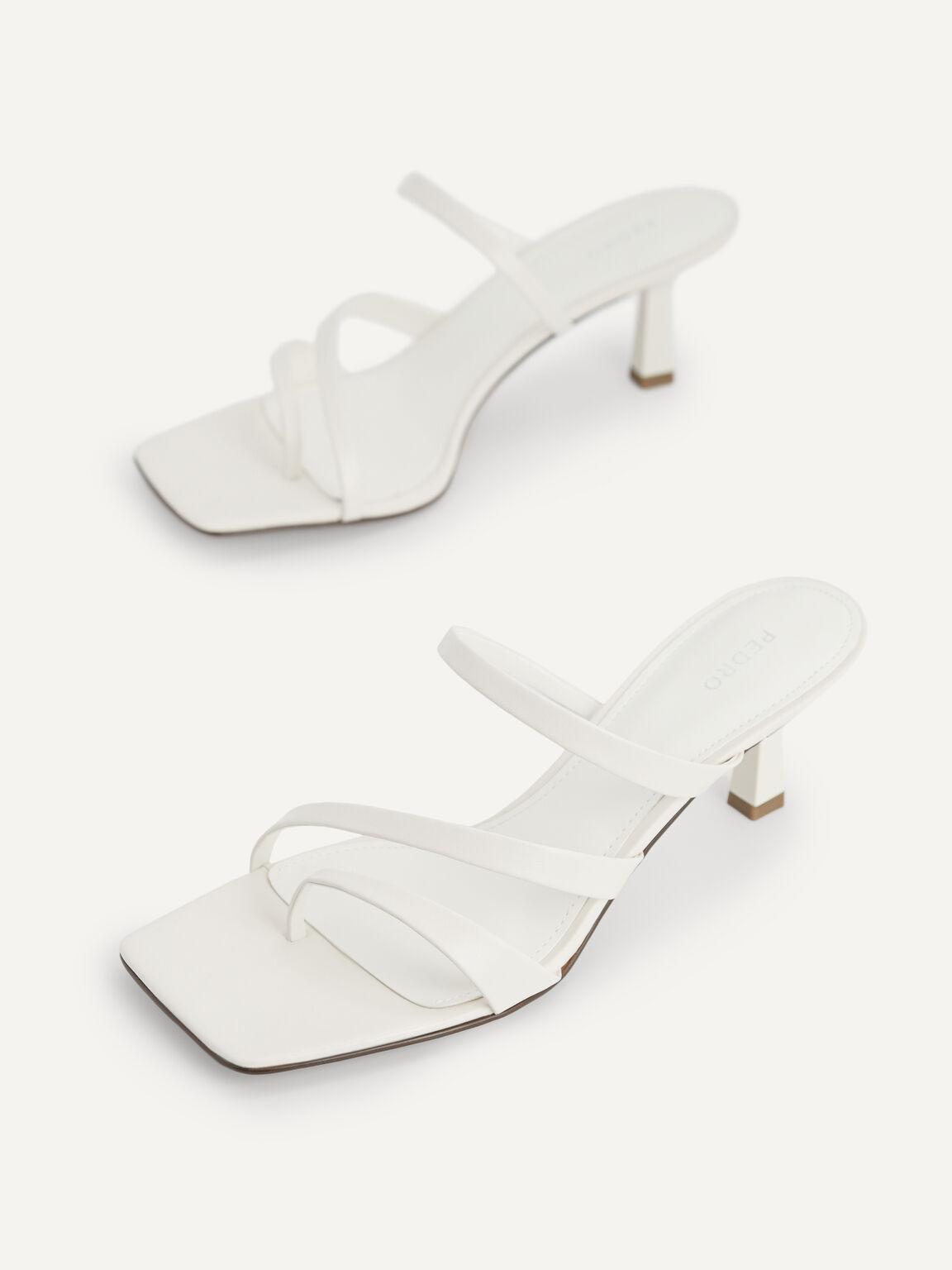 Strappy Heeled Sandals, Chalk, hi-res